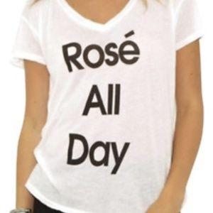 Wildfox Rose All Day VNeck-Sz L
